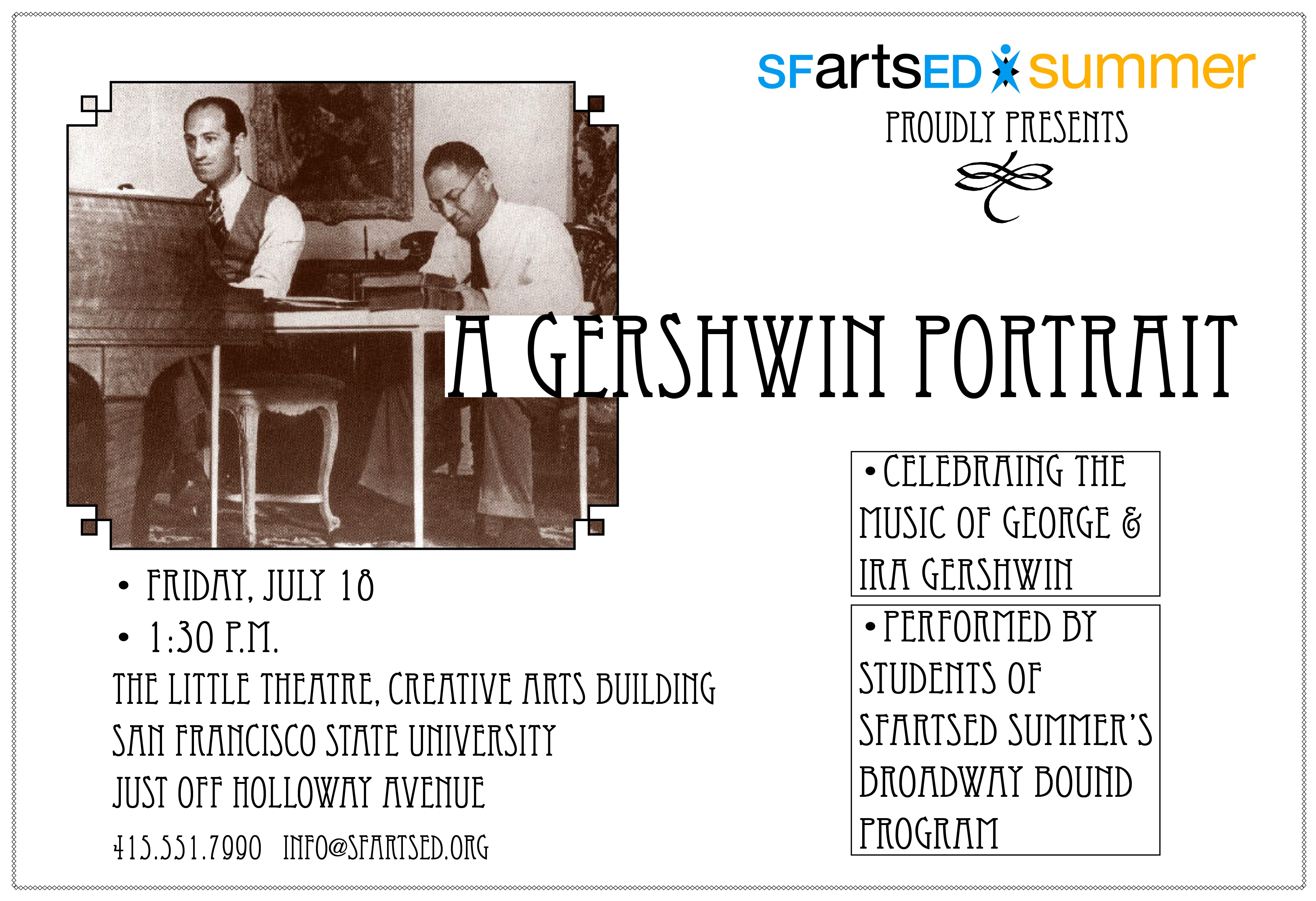 Broadway Bound students perform A Gershwin Portrait